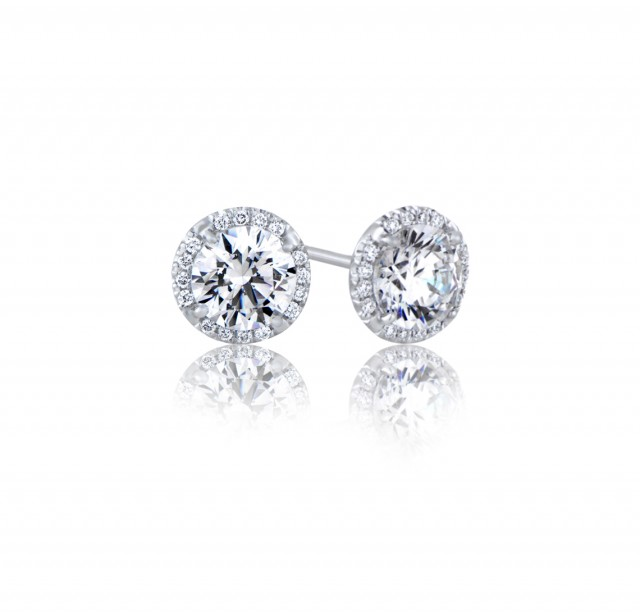 Caraters Glamour 0.40 cts (x2) F SI Round Brilliant Diamonds