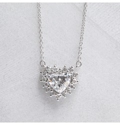 Caraters GIA Certified 0.70 cts Hearts Pendant