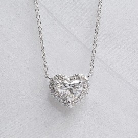 Caraters 0.50 cts Hearts Pendant