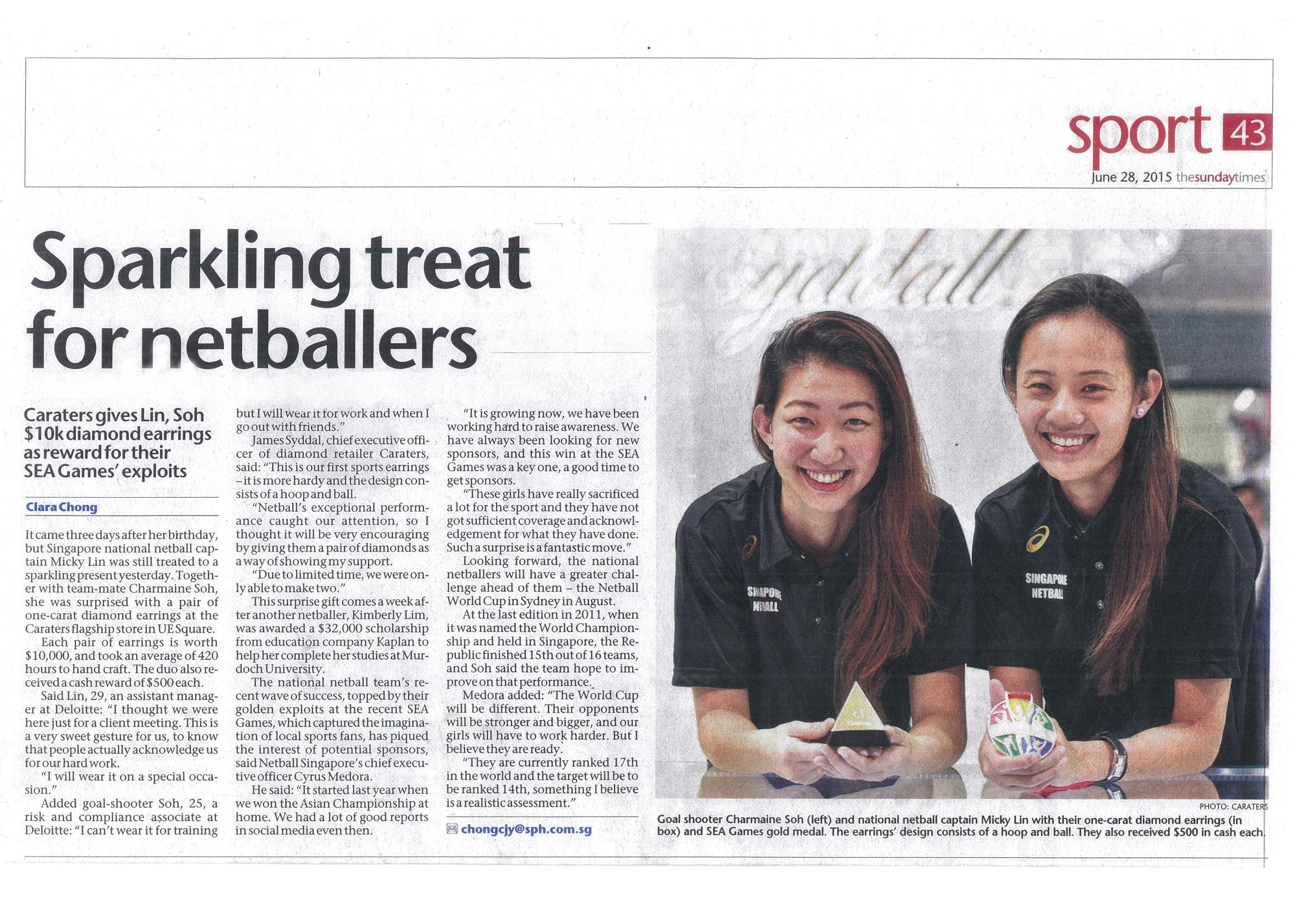 SPARKLING TREAT FOR NETBALLERS